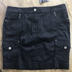 NWT WHBM black mini skirt with silver rhinestone 8